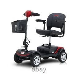 Scooter De Mobilité Électrique Pliant 4 Roues En Fauteuil Roulant 4.9mph