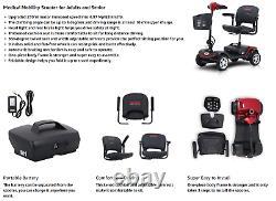 Scooter De Mobilité Électrique Pliant 4 Roues Pour Les Personnes Âgées En Fauteuil Roulant Portable