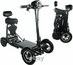 Scooters De Mobilité Pliants Pour Adultes, Scooter Électrique 4 Roues Avec Siège