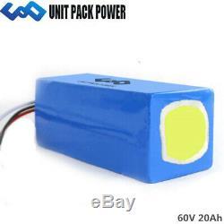 U. P. P 60v 20ah Lithium Ion Batterie Pack Fauteuil Électrique Scooter Ebike Akku