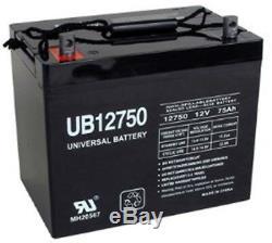 Upg 12v 75ah Jazzy 1104 1120 1170 XL Plus 1650 Batterie Power Chair Président