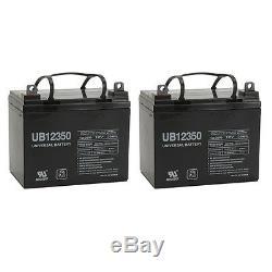 Upg Paquet De 2 Batterie 12v 35ah Pour Scooter Électrique Powerrider 6runner 10