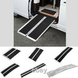 Vilobos Aluminium Fauteuil Roulant Ramp Handicap Mobilité Silhouette Sacoche Silhouette