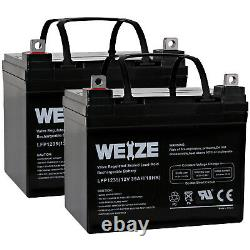 Weize 12v 35ah U1 Batteries Electric Wheelchair Scooter Paire 2
