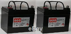 (deux) Remplacement De La Batterie De Scooter De Fauteuil Jazzy Select Gt De 12v 35ah